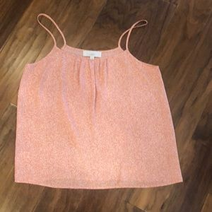 Loft silky polka dot cami in pink/coral color